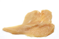 White meat slices of chicken breast Royalty Free Stock Photos