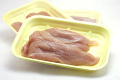 White meat slices of chicken breast Royalty Free Stock Images