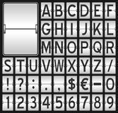 White Mechanical Scoreboard Alphabet Stock Image