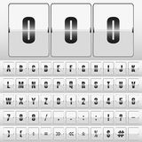 White mechanical scoreboard vector. White mechanical scoreboard with different numbers vector Stock Images