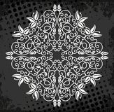 White medallion pattern Stock Photography