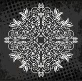 White medallion pattern Stock Photography
