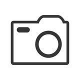 White  media icon, graphic Royalty Free Stock Images