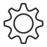 White  media icon, graphic Stock Photography