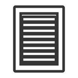 White  media icon, graphic Stock Images