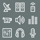 White media web icons Stock Images