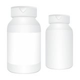 White medical bottles Stock Photography