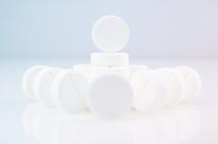 White medicine antibiotic pills Royalty Free Stock Photos