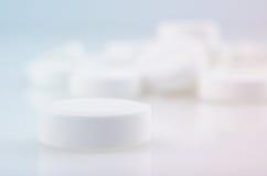 White medicine antibiotic pills Stock Images