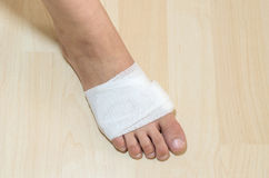 White medicine bandage Royalty Free Stock Images