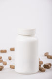 White medicine bottle Stock Photography