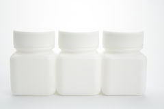 White medicine bottle Royalty Free Stock Photos