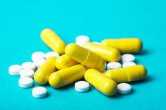 White medicine pills Stock Image