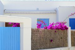 White mediterranean house detail Formentera Stock Images