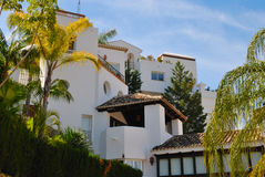 White Mediterranean houses Royalty Free Stock Photos