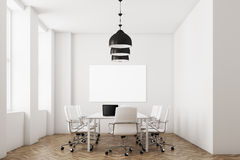 White meeting room with lamps Royalty Free Stock Photography