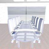 White meeting room. In perspective, 3d render Stock Photography