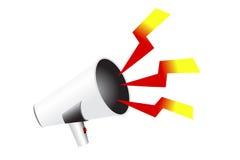 White megaphone Royalty Free Stock Photo