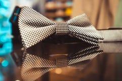 White men's bow tie Stock Image