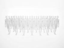 White men in studio pattern Stock Photos