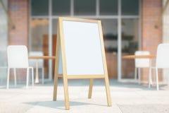 White menu stand Royalty Free Stock Image