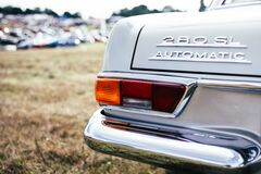 White Mercedes Benz 280 Sl Automatic Stock Images