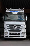 White Mercedes-Benz Actros Truck Stock Photos