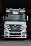 White Mercedes-Benz Actros Truck Stock Photos