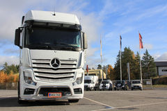 White Mercedes-Benz Actros Truck Royalty Free Stock Photos