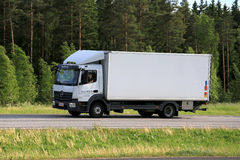 White Mercedes-Benz Atego Delivery Truck Transport Stock Image