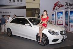 White mercedes benz car Royalty Free Stock Photo