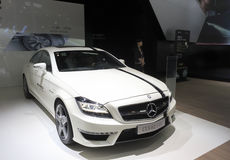 White mercedes-benz cls 63 amg sports car Royalty Free Stock Photo