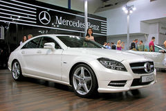 White Mercedes-Benz CLS-class Stock Photography