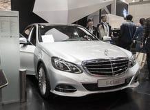 White mercedes-benz e-class car Stock Photography