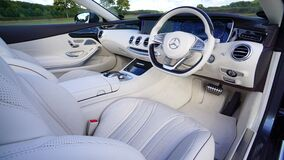 White Mercedes Benz Interior Design Stock Photos