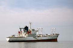 White merchant ship Stock Image