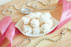 White meringue Royalty Free Stock Image