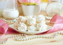 White meringue Stock Photos