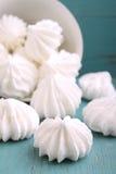 White meringue cake scattered Stock Images