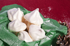 White meringue candy Stock Images