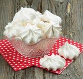 White Meringue Cookies Stock Photo