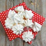 White Meringue Cookies Royalty Free Stock Images