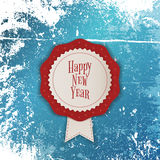 White Merry Christmas Banner with red Ribbon Royalty Free Stock Image