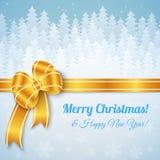 White Merry Christmas Landscape Royalty Free Stock Photos