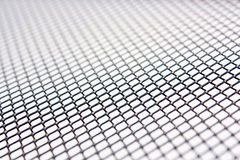 White mesh on the floor. Stock Photo