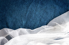 White Mesh With Blue Background Royalty Free Stock Images