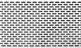 White metal air vent grille background Royalty Free Stock Photos