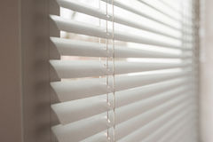 White metal blinds in the office Royalty Free Stock Images