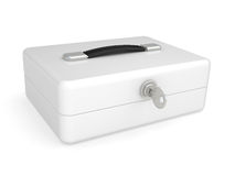 White metal box Stock Photography