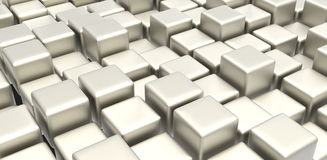 White metal cubes Stock Photography